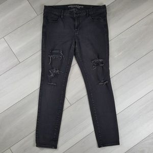 American Eagle Jegging Distressed Skinny Jeans 14